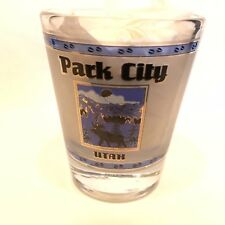 Park City Utah Shot Glass Moose Mountains Sunset No Chips Cracks or Scratches