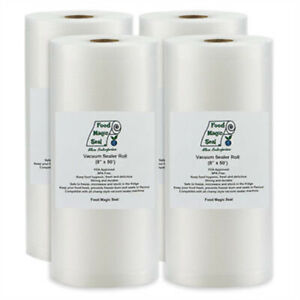 """Vacuum Sealer Storage Bags 4-8""""x50' Rolls Food Magic Seal 4 Mil Great $$ Saver!"""