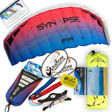 Prism Synapse 200 Coho Foil Power Stunt Kite 2-Line Straps + 75 foot Tube Tail