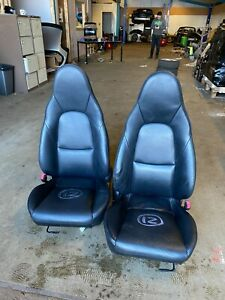 Mazda Mx5 Set of Black Leather Seats ----  ( 12 )