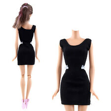 Handmade Black MIni Dress Skirt Outfit Party Clothes For 10-12inch Barbie Dolls