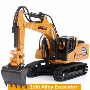 1:60 Alloy Diecast Excavator Toys Toy Engineering Vehicle Model Alloy Excavator