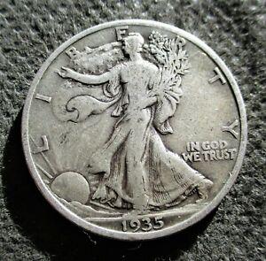 "OLD SILVER 1935-P USA $1/2 COIN ""WALKING LIBERTY HALF DOLLAR"" AMERICAN EAGLE"