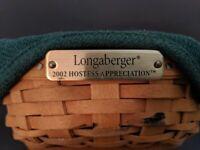 Authentic signed 2002 Longaberger Hostess Appreciation Key Basket w/ Tag & Liner