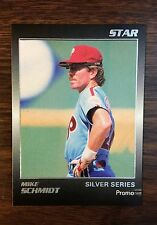 1989 Star Company MIKE SCHMIDT,  HOF  Limited Edition  SILVER PROMO card