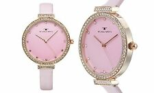NEW Tavan Dori 10032 Women's Pink Swarovski Crystal Bezel Watch quartz fashion
