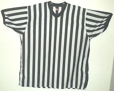 Black & white striped s/s referee jersey by Alleson Athletic sz XXL