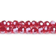 Czech Crystal Glass Faceted Round Beads 8mm Dark Red 70+  Pcs Art Hobby Crafts