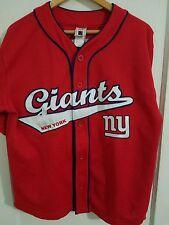 New York Giants Tiki Barber Baseball Jersey (M) Vintage 90s NFL Jersey button up