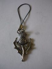 pewter Mobile Phone charm w35 Scottish Thistle Made From Modern English
