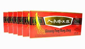 6 Boxes Red Panax Ginseng Royal Jelly Extract Liquid 6 x 10 Vials