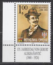 Bosnia y Herzegovina (República Srpska) 266 ** 135. muerte de Aleksa Santic