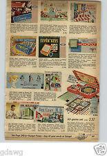 1962 PAPER AD Game Ben Casey Dr Kildare Sled Bobster Barbie Cecil Mattel