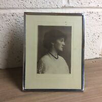 Large Vintage Solid Silver Photo Frame. Mappin & Webb. 1945