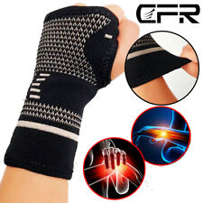 Arthritis Copper Wrist Brace Support Compression Sleeve Hand Fit Carpal Tunnel