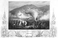 NApoleonic Wars BATTLE OF SOBRAL WALLS TORRES VEDRAS ~ 1853 Art Print Engraving