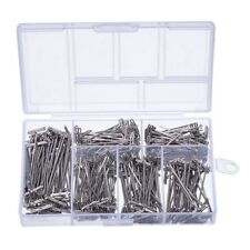 450 Pieces Steel T-Pins Nickel Plated 1 Inch 1-1/4 Inch 1-1/2 Inch 1-3/4 C4J4