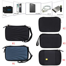 """Durable Hard Pouch Carrying Case Bag for 2.5"""" inch Portable External Hard Drive"""