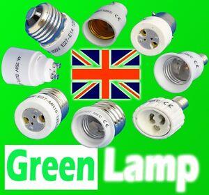 B22/E27/E40/E14/B15 to GU10/MR16 LED/CFL Light Lamp Adapter Converter UK Stock