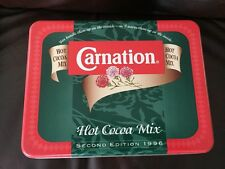 Vintage Collectible Carnation Hot Cocoa Mix Tin Box 1996