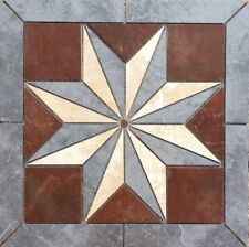 "22 1/4""  Tile Medallion Inlay - Daltile's Continental Slate tile series"