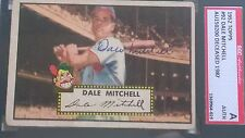 Dale Mitchell Signed 1952 Topps Card #92 SGC Authentic Slabbed