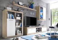MERO - Mobile soggiorno in imitazione di quercia Sonoma chiaro/bianco, ca. 270/2