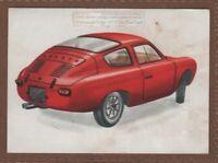 1960s Fiat Abarth Bialbero Car Automobile Vintage Ad  Card