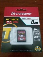 Transcend SDHC 8GB Class 10 Ultimate 600x UHS-1 For Full HD Recording