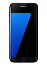 Teléfonos móviles libres negros, modelo Samsung Galaxy S7 edge con 32 GB de almacenaje