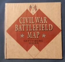Civil War Battlefield Map Gettysburg Series Atlas Editions Civil War Cards