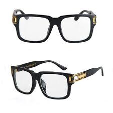 Large Square Aviator Retro Gold Hinges Men Driving Designer Fashion Sunglasses