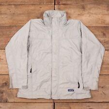 Womens Vintage Patagonia Grey Waterproof Jacket Coat Medium 12 R10121