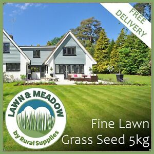 Luxury Lawn Grass Seed 5KG - PREMIUM QUALITY FOR FINE FRONT GARDEN LAWNS
