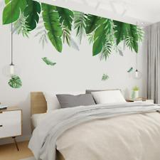 Tropical plants Banana leaf Wall Stickers Eco-friendly Vinyl Wall Decals Art