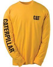 New CATERPILLAR CAT Bannière Long Manche T-shirt, 1510034 Yellow, Medium, FREEP & P!