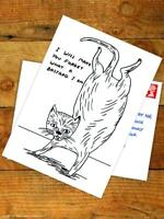 David Shrigley Postcard Funny RUDE Comedy Humour Amusing Novelty Cheeky Joke