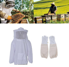 Beekeepers Schutzanzug Imkerjacke Hut Schleier Imker Jacke Imkerei HandschuheSet