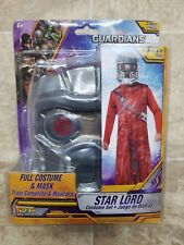 Star Lord Costume & Mask Set Kids Sz 8-10 Guardians Of The Galaxy Marvel Cosplay