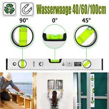 Aluminium Wasserwaage 3 Libellen Magnetwasserwage Präzisionswasserwaage 40-100cm