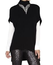 New with tag $268 BCBG Max Azria Kasia Oversized Boxy B889 Pullover Sz M/L