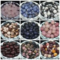 New DIY Jewelry 4MM 6MM 8MM 10MM Natural Stone Gemstone Round Spacer Loose Beads