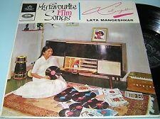 LATA MANGESHKAR:MY FAVOURITE FILM SONGS Bollywood 1965 ODEON LP N MINT