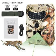 PR100 12MP HD Hunting Trail Digital Camera 1080P Night Vision Cam IR Infrared