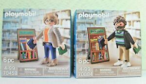 Playmobil Thalia Die Buchhändlerin 70458 + Der Buchhändler 70884 Neu & OVP
