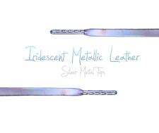 Metallic Leather Shoe Laces