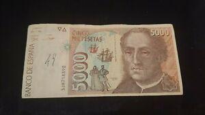 Banconota spagna da 5000 pesetas