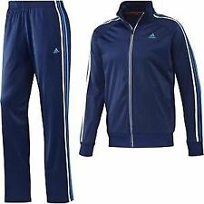 """adidas Mens Night Blue White ESS 3s PES TS Tracksuit F48329 Chest Size 40-42"""""""