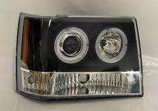 Black Projector Halo Angel Eye Headlights Fits Jeep Grand Cherokee 1993-1998
