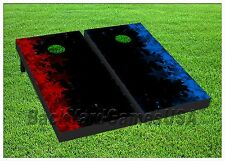 STARS Custom Cornhole Boards BEANBAG TOSS GAME w Bags Red Blue Patriotic Set 282